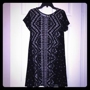 Derek Heart Black/White Floral Women's Dress.